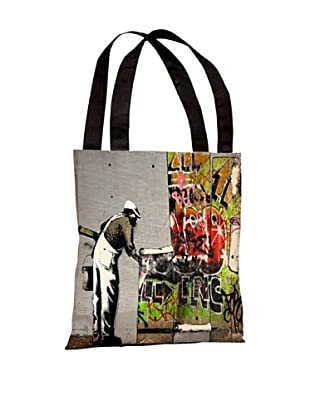 Banksy Graffiti Wallpaper Tote Bag