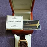 Chairos Exagon,Limited edition,Water Resistant,IPG Rose gold plated,Brown leather strap,Swiss Quartz