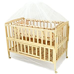 Happy Dino Baby Cot With Bassinet