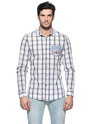 Love Moschino Camisa Gianinno (Azul / Blanco)