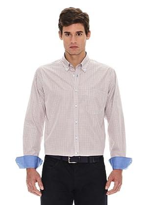 Turrau Camisa Cuadro Pequeño Bicolor (Beige / Azul)