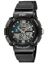 Maxima Ego Analog-Digital Black Dial Unisex Watch - E-33221PPAN