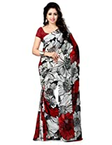 Vaamsi Faux Georgette Saree (Vaio2005 _White)