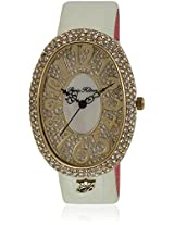 H Ph13574jsg/06A Off White/Golden Analog Watch Paris Hilton