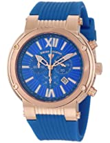Swiss Legend Men's 10006-RG-03 Legato Cirque Chronograph Blue Textured Dial Blue Silicone Watch
