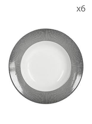 Delys by verceral Lote De 6 Plato Hondo Cerámica Ø 24,5 cm