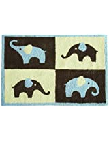 "Carter's Blue Elephant Rug, Blue/Choc, 30 X 40"" (Discontinued by Manufacturer)"