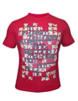 Peter England Red T-Shirt