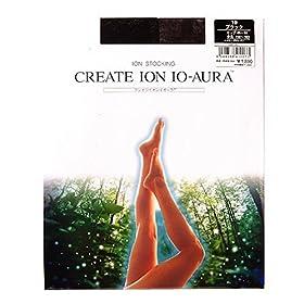 【クリックで詳細表示】CREATE ION イオーラ イオンストッキング ブラックL CIS-101 19-L: ヘルス&ビューティー