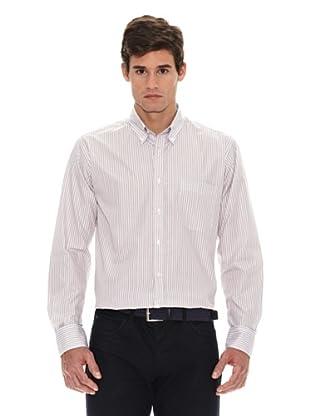 Turrau Camisa Raya Doble / Sencilla Bicolor (Beige / Azul)