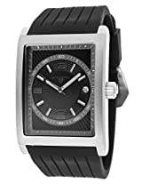 Limousine Black Silicone Black And Grey Dial Silver-Tone Case (40012-01-Grya)