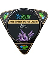 Go Ayur Ayurvedic Post Stretch Marks Cream 6 Oz Herbal Stretch Marks Removal & Natural Body Moisturizing Cream, 100% Herbal Actives, Natural Fragrance