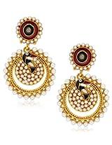 YouBella Designer Traditional Dancing Peacock Pearl Earrings