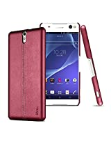 IMAK Ruiyi Luxury Genuine Leather Case for Sony Xperia C5 Ultra Dual SIM -Red