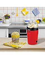 Texet PM-40 1200Watt Delicious Popcorn Maker|Healthy Pop Corn Maker in Red