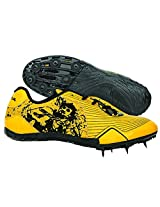 Nivia Spirit Running Spikes,UK 3 (Yellow/Black)