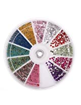 10 Roll Star Transfer Paper Adhesive Glitter Top Coat Nail Art Set