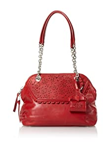 Nanette Lepore Women's Floral Cut Small Shoulder Bag (Kiss Red)
