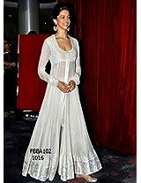 Fabboom Deepika Padukone In White Anarkali At The Launch Chaennai Expressv