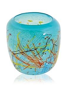 Viz Art Glass Aqua Lagoon Vase