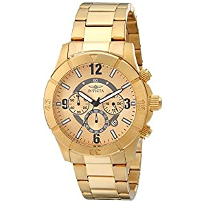 Invicta Edition Specialty Chronograph Gold Dial Watch for Men - Model Number 1423