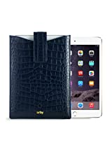 Gogappa 10 inch iPad Air Sleek Croc Embossed Rich Leather Sleeve Pouch Case Cover (Blue)