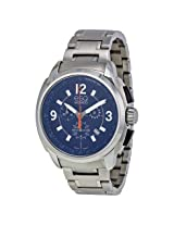 ESQ by Movado Open Box - Excel Chronograph Blue Dial Stainless Steel Men's Watch -OB-ESQ-07301417