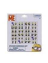 WeGlow International Minions Sticker Earrings (72 Pairs Total)