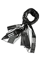 Music Note Scarf (Piano Black)