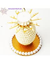 Ghasitaram Gifts - Pillar Pearl T-Lite with 400 gms kaju Katli