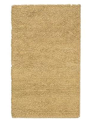 Hand-Knotted Plateau Shag, Khaki, 2' 11