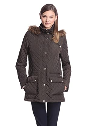 Calvin Klein Women's Quilted Coat (Olive)
