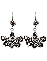 Haat4Art Embossed Petals 925 Silver Earrings for Women