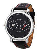 Exotica Analog Black Dial Men's Watch (EF-82-Dual-Black)