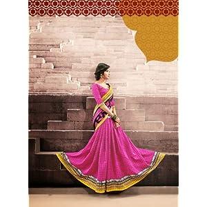 AJ Creations Designer Ethnic Saree - Pink