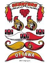 StacheTATS Ottawa Senators Temporary Mustache Tattoos
