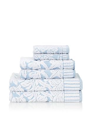 Famous International Chantilly 6-Piece Towel Set (Blue)
