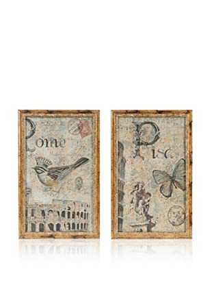 A&B Home Set of 2 Rustic Nature Framed Wall Hangings