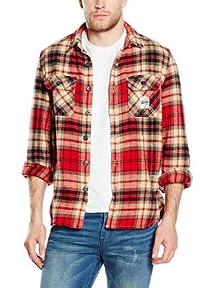 SUPERDRY Camisa Hombre  Rojo XS