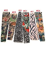 Goth Nylon Stretchy Fake Tattoo Leopard Sleeve Arm Stocking (#04)