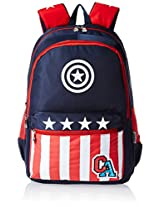 Captain America Nylon 43 cms Navy and Red Children's Backpack (MBE-WDP0455)
