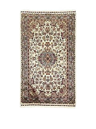 L'Eden del Tappeto Teppich Kashmirian F/Seta beige/grau 152t x t91 cm