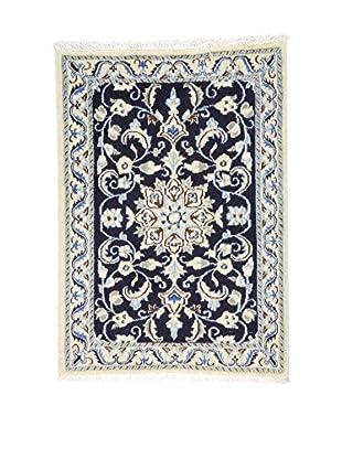 L'EDEN DEL TAPPETO Alfombra Nain K Beige/Azul 58 x 88 cm