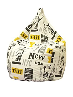 Home Low Cost Sitzsack New York beige/gelb