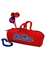 NCAA Ole Miss Rebels Scorch Earbuds with Bud Bag