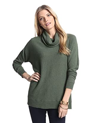 Cullen Women's Cowl Neck Cashmere Sweater (Sage)