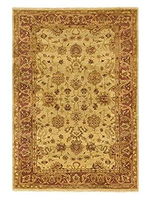 eCarpet Gallery One-of-a-Kind Hand-Knotted Royal Ushak Rug, Burned Orange/Yellow, 5' 7