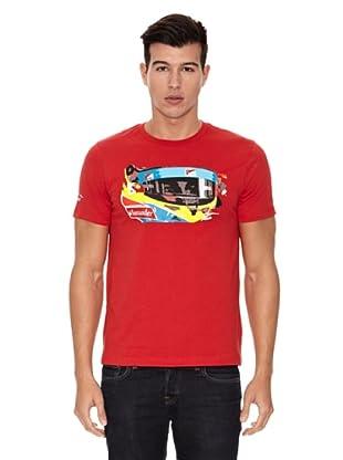 Ferrari Camiseta Santander Alonso Visor (Rojo)