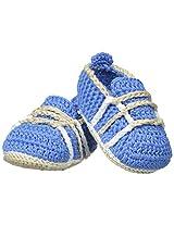 Jefferies Socks Baby Boys' Crochet Bootie, Blue, Newborn