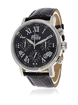 Pit Lane Uhr mit Miyota Uhrwerk Pl-1004-1 schwarz 42 mm